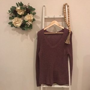 [Lucky Brand] Pink Sweater with Gold Sparkles